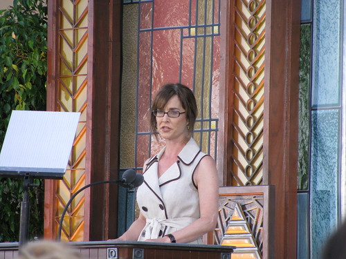 Teresa Grimes at Church of Scientology opening ceremony pasadena