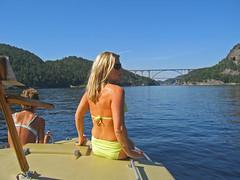 Twin bridges (Leifskandsen) Tags: camera bridge girls sea summer woman sun sexy nature water sunshine norway canon nude living boat sailing ship shine sweden border svinesund norwegian fjord scandinavia navigation halden seaman leifskandsen skandsenimages