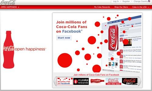 Coca-cola's homepage