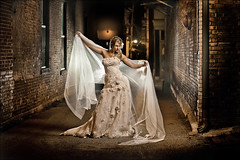 Kim Bridal ~ Bride in the Alley (~Phamster~) Tags: canon bride alley quadra elinchrom 85l strobist deepocta phamster cactusv4s rohicks theurbanbride