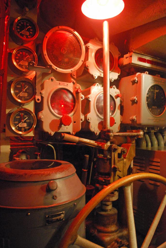 USS Cod Control Room Steering