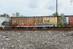 Decor & Combos (A & P Bench) Tags: train bench graffiti stock graff decor railfan rolling ihp combos freighttrain fr8 benching freightgraffiti freighttraingraffiti canadianfreight