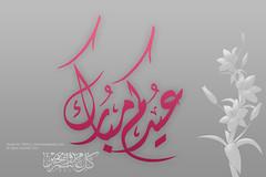 Happy Eid      (Tareq Abuhajjaj   Photography & Design) Tags: pink wallpaper rose happy design day sweet background gray eid ramadan 800 2010 1024   1431 tareq       pixle tareqdesign abuhajjaj