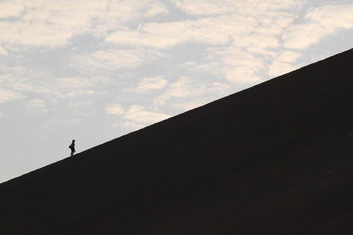 Sand dune silhouette
