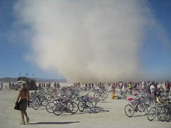 Dust Devil at Burning Man Temple of Flux (thomas pix) Tags: storm video playa burningman dust bm10 bm2010