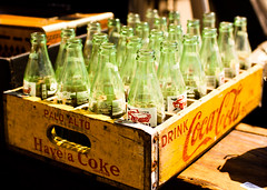 Vintage Coca Cola Bottles  9/5 by cielodlp, on Flickr