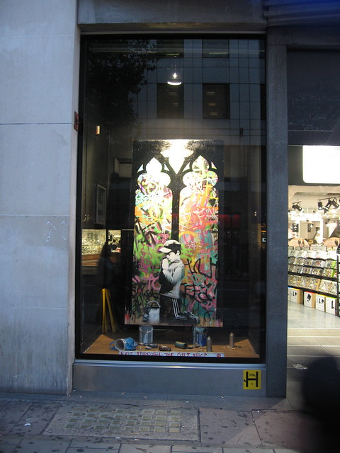 Banksy Installation HMV London Photo:© ArtLyst 2010