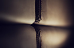 leather....yah..... (timsepulveda) Tags: nyc brown leather dof soho thompson stiches padding