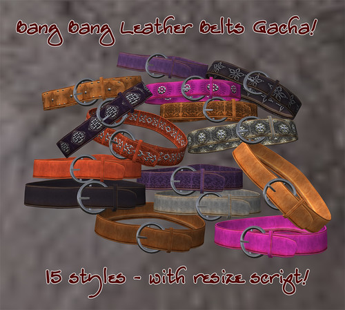 Bang Bang - Leather Belts