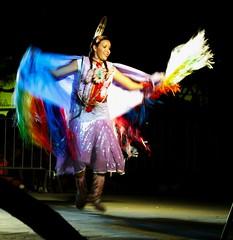 Yellow Bird Dancer (JackAZ Photo) Tags: arizona color bird art yellow night dark dance mac apache colorful dancers darkness native indian performance olympus american performer mesa e510 35100mmf2 zuikodigital mesaartscenter estunbah eventidafotografare yellowbirddancers