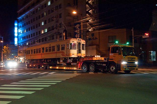 伊予鉄道800系 クハ856 廃車陸送