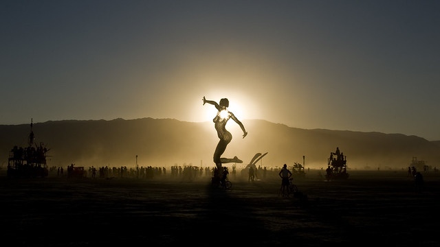 Burning Man 2010 - Metropolis: Bliss Dance at Sunset
