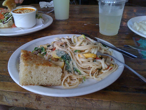 Pasta Primavera at Austin Java