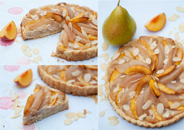 Amaretto Peach and Pear Tart