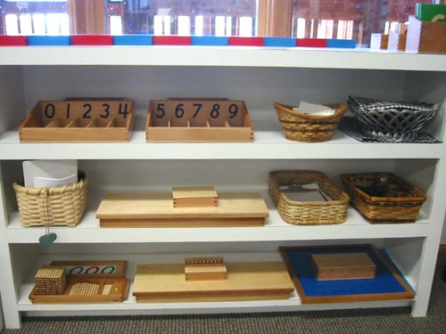 Montessori Math Materials (Photo from Raintree Montessori School at Circle of Inclusion)