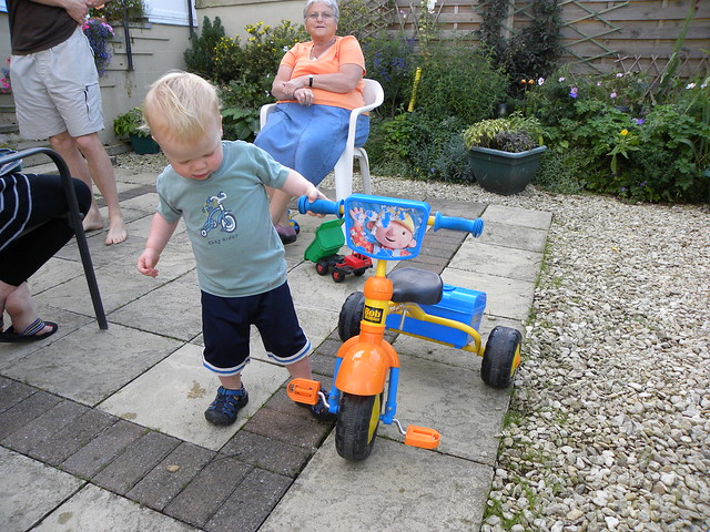 Trike in the back garden