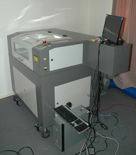 60w Laser Engraver / Cutter (Setup Side)