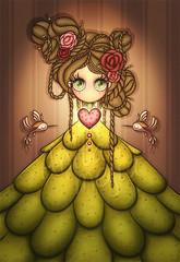 cactus (Anita Mejia) Tags: flowers cactus woman art illustration hair mujer loteria vida ilustracion nopal lif lotery anitamejia anamariamejia