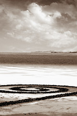 Spiral Jetty ~ The Great Salt Lake (Suzette.desertskyblue) Tags: utah desert greatsaltlake earthworks spiraljetty transcontinentalrailway goldenspikenationalhistoricsite