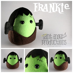 Frankie a Halloween Monster Plushie (Saint Angel) Tags: halloween monster frank scary stuffed plush frankenstein plushie scar