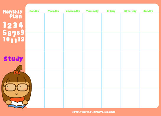 Cute Monthly Planners - Ex