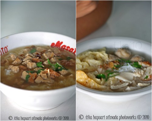 Bakmoy (left) , Bakso Komplit (right)