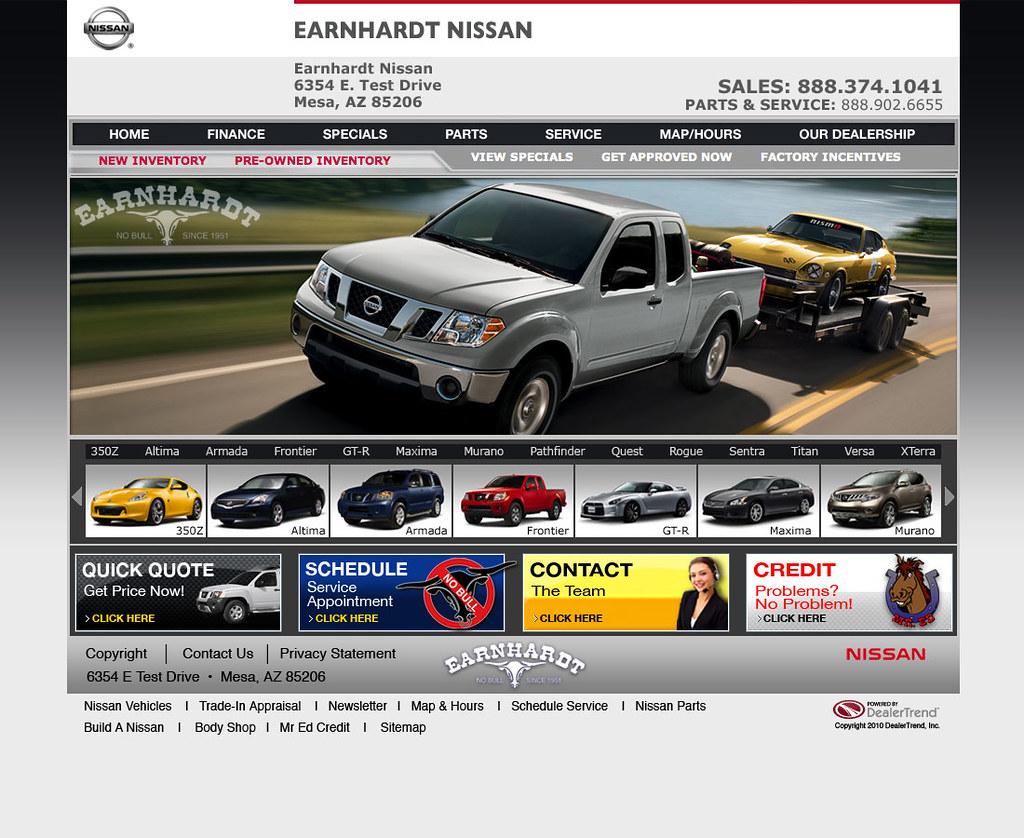 Nissan manufacture compliant websites