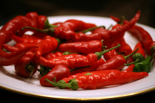 chiles on a plate