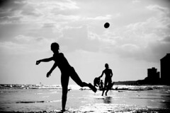 Youth has no age. (.I Travel East.) Tags: life light sea summer blackandwhite bw usa beach water monochrome youth sand nikon florida east explore nikkor destin fla f28 lucio 70200mm destinflorida emeraldcoast itravel d700 nikkor70200mmf28 nikond700 itraveleast youthhasnoage ~pablopicasso
