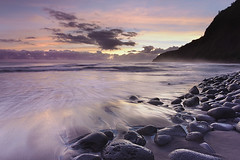 Waipio Dawn - Big Island, Hawaii (PatrickSmithPhotography) Tags: ocean sea sky usa seascape rock landscape hawaii lava unitedstates pacific bigisland waipio wavecloud