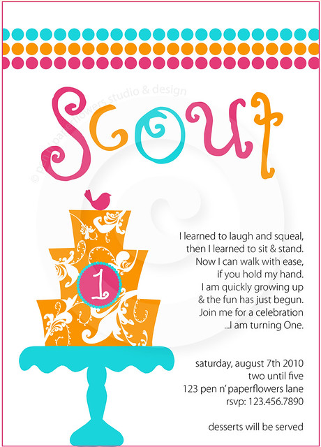 invite - Couture Cake Collection