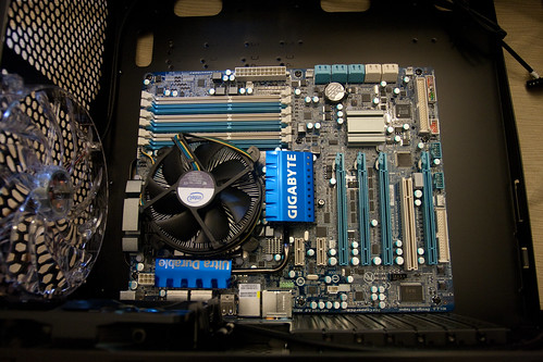 Motherboard and CPU Installed