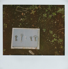 (Kid_Curry) Tags: film garden keys polaroid books skeletonkeys kidcurry