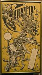 Converge '04 Print (Shrieking Tree) Tags: flowers art pen chaos drawing feathers bone cavein converge micron hifructose aaronhorkey midwesternheart betweentheburied