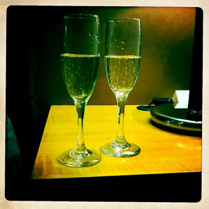 Champagne to welcome us in Rendezvous