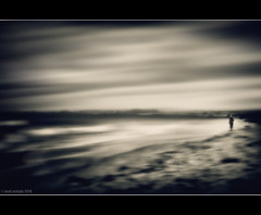Untitled (Matt Pringle (aka Major P)) Tags: uk sea england blur beach coast sand panasonic northumberland alnmouth figure gh1 mattpringle