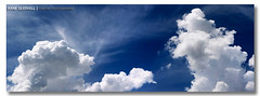 Little Fluffy Clouds ([ Kane ]) Tags: blue light sky white water clouds landscape day pano australia brisbane panoramic qld queensland kane cloudscape 6x17 whiteclouds fluffyclouds gledhill watervapour kanegledhill wwwhumanhabitscomau kanegledhillphotography