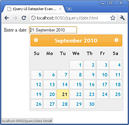 jQuery UI Changing the date format for datepicker tutorial
