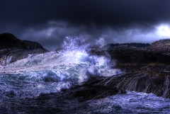 Crashing Wave (Geoffrey Campbell) Tags: blue dark intense wave tofino splash crashing grimey crashingwave