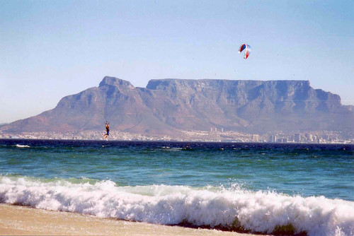 SA Table Mountain kitesurfing
