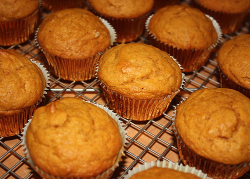 Unfrosted Pumpkin Spice Cupcakes