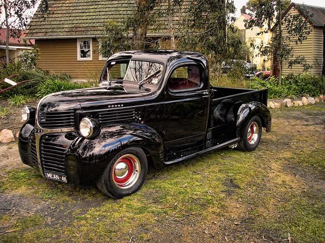 classics moe hdr hotrods customs 1946 v8s 1946dodgepickup chromebumperclassics oldgippstowncarshow