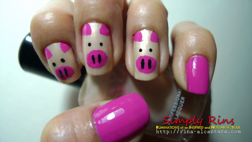 Nail Art Three Little Pigs 02