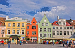 Tallin (Rosita So Image) Tags: city summer sky people cloud house building square estonia cityscape market tallin towncentre rositasoimage