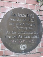 Photo of Philip Matsell and Ludgate Hill bronze plaque