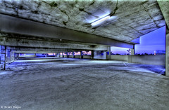 Grungy Parking Garage   HDR (B  Hayes) Tags: canon garage parking dirty hdr 1022 grungy photomatix 50d