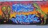 Toronto Graffiti 5793 (sniderscion) Tags: street city two urban toronto ontario canada color colour art public wall scott graffiti nikon mural paint downtown dino dinosaur bright vivid canadian spray vandalism atlas tamron f28 unc trex throw triceratops snider mozy d80 1750mm tamronspaf1750mmf28 sniderscion mozyunc tyrannosuar