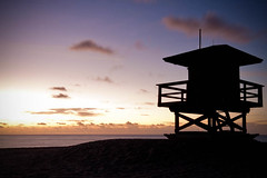 Life Guard Tower Silhouette (Erice7) Tags: ocean longexposure black beach water silhouette clouds movement sand lifeguardtower sigma1020 anamariaisland galleryphotos 9gnd