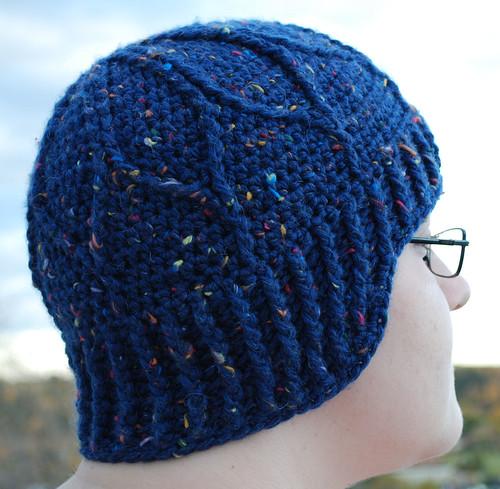 Cable petals hat