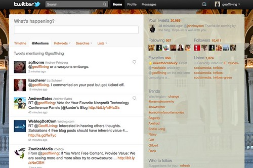 The New Twitter Interface